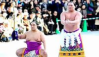 明治神宮で横綱白鵬が奉納土俵入りを披露 - 2011年1月6日、東京都渋谷区のキャプチャー