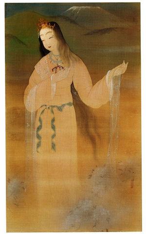木花開耶姫 - 後にサクヤを祀ることになる富士山背負い雅やかな美女神【大古事記展】のキャプチャー