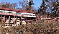 鼻顔稲荷神社 - 室町期に伏見稲荷を勧請、空中楼閣の社殿、2月の初午祭はだるまが人気