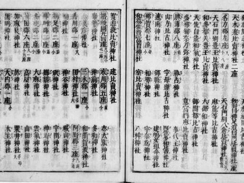 延喜式神名帳 - 確実に1000年以上前に存在、1000年以上にわたって存在する神社