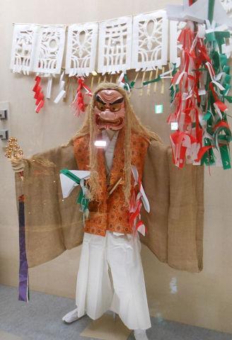 高千穂神楽 手力男面と衣装一式 - アメノタヂカラオが天岩戸を探り当てる様の舞【大古事記展】のキャプチャー