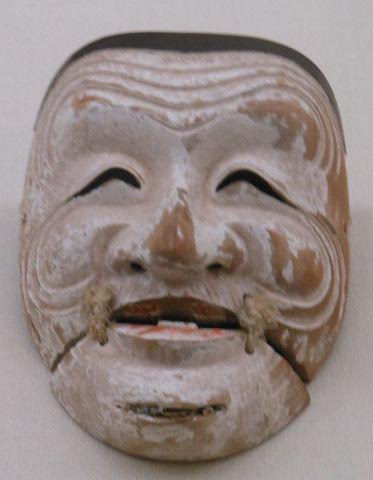 摩多羅神面(白色尉) - 能楽発祥の地である奈良・多武峰に秘蔵されてきた一回り大きく重い翁面【大古事記展】のキャプチャー