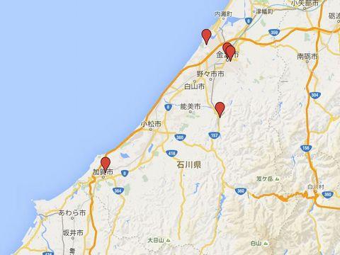 石川県の別表神社のキャプチャー