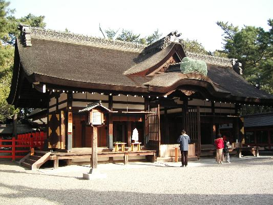 住吉大社、第一本宮の本殿 - Wikipedia