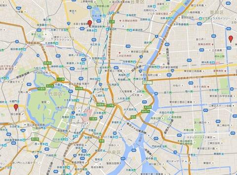 江戸三大天神 - 東京区内にある有力な三天満宮、亀戸天神社・湯島天満宮・平河天満宮