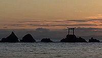 奈多宮 - 奈多海岸の沖合の小島・市杵島が、八幡の比売大神の降臨地、4月に御田植祭
