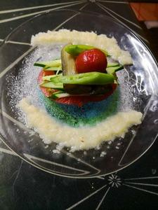 5月13日彩り野菜を自家製の新玉ねぎドレッシング