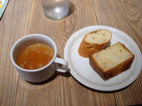 グッドモーニングカフェ@中野セントラルパーク-スープとパン