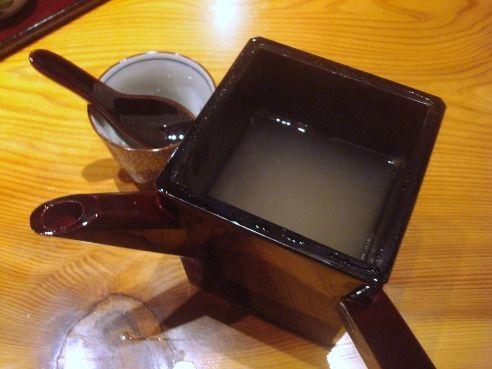 盛絽屋@中野・高円寺-蕎麦湯