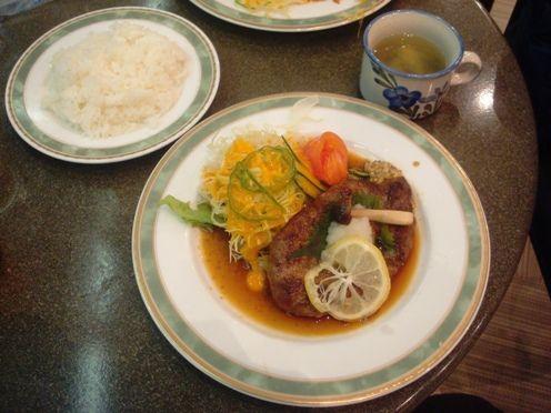 喫茶ノーベル@中野-和風ハンバーグ