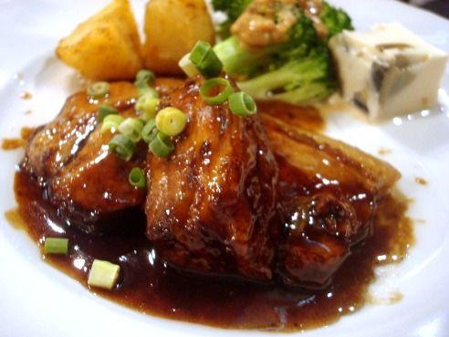 丹華麗@中野-豚三枚肉の黒酢ソテー