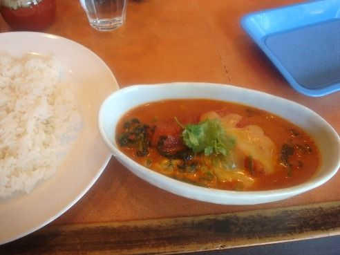 ヤミヤミカリー@中野-完熟トマトとほうれん草のチーズカリー