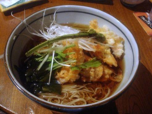 浅見製麺所@中野-わかめと生桜海老蕎麦