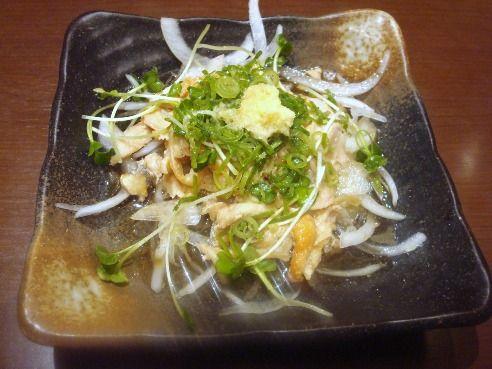 三宝庵@中野-親鶏のたたき酢