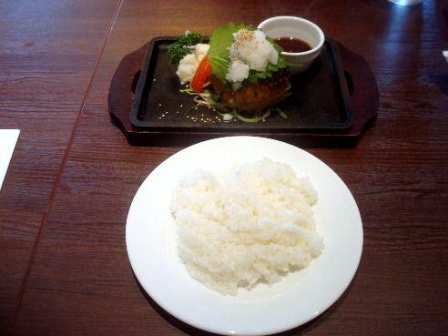 中野グリル@中野-おろしポン酢ハンバーグセット