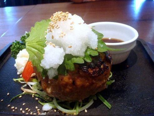 中野グリル@中野-おろしポン酢ハンバーグ