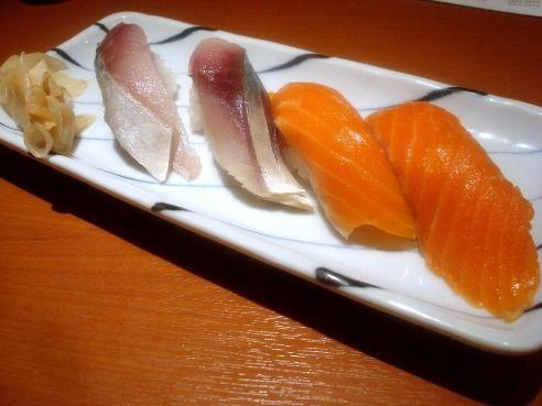 魚がし鮨@中野-シメサバ・サーモン
