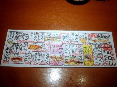 魚がし鮨 中野南口店-メニュー