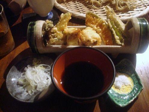 浅見製麺所@中野-季節野菜のてんぷら
