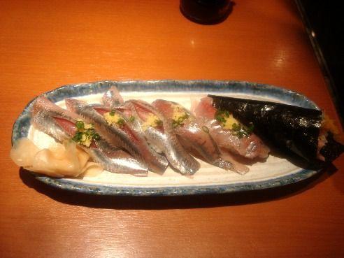 魚がし鮨@中野-アジ・いわし・トロたく巻き