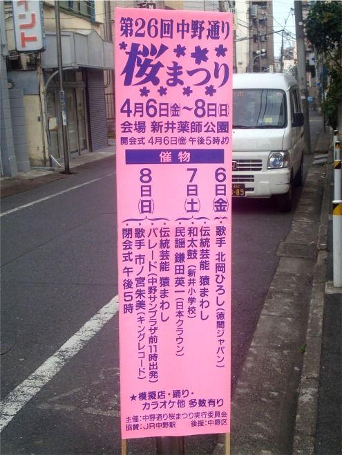 さくら祭り@中野-看板