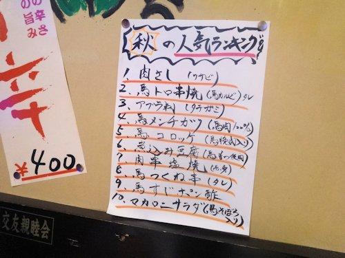 馬肉食堂さくら@中野
