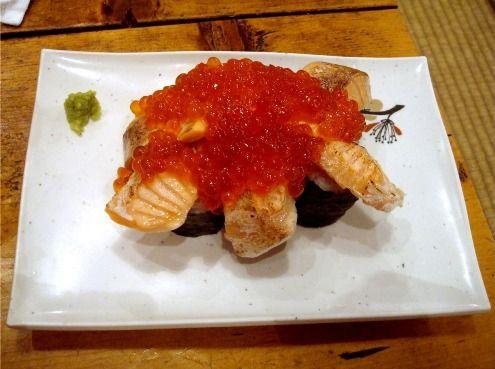 てんこ盛り炙りトロ鮭イクラ寿司