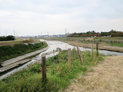 千里川・猪名川合流地点