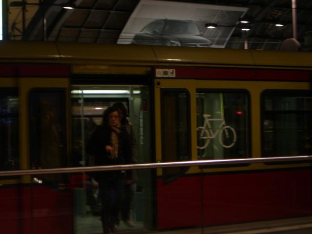 電車の自転車置き場