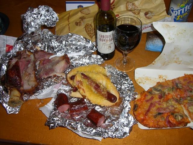 フランクフルト夕食