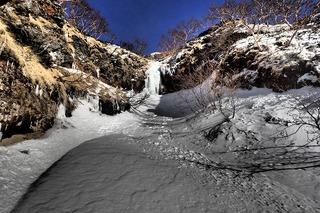 s-P1071742広河原沢左俣10m大滝上の滝