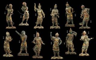 s-07 42年ぶり12軀勢ぞろい重要文化財十二神将立像