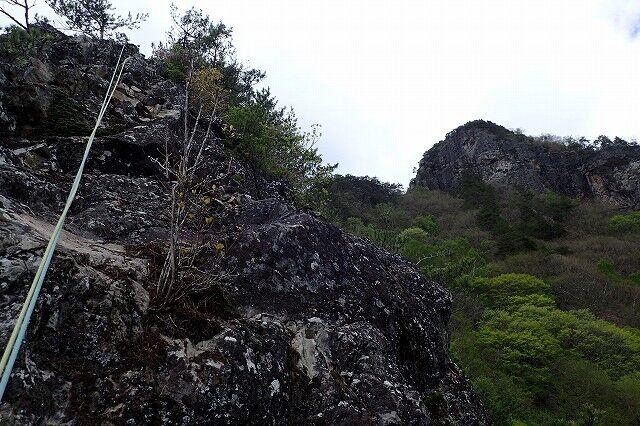 s-29右に頂上岩壁が見えるP5231898