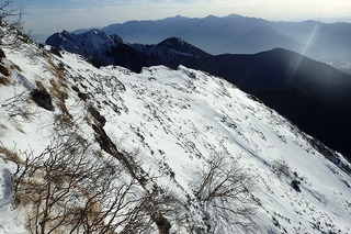 s-P1071770広河原沢中央稜のトレース