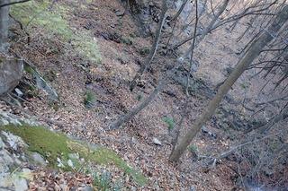 s-PB121620本日の核心・雄滝の巻道・トラバース