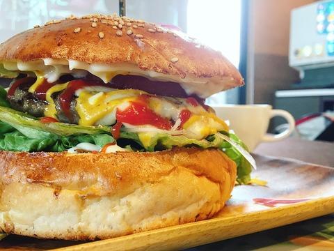 ハンバーガーは、まさかの大きさ!〜feel nature WAKA(鹿児島・姶良)〜