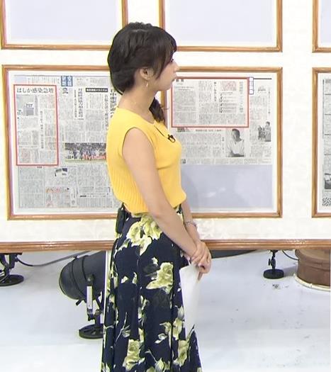 宇垣美里アナ タイトなノースリーブでおっぱいが目立つ