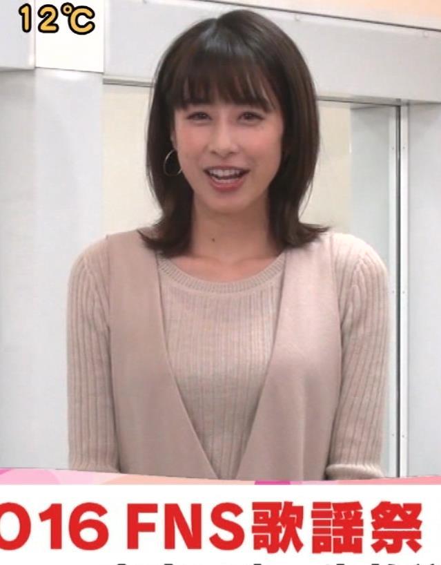 加藤綾子アナ ニットおっぱい!