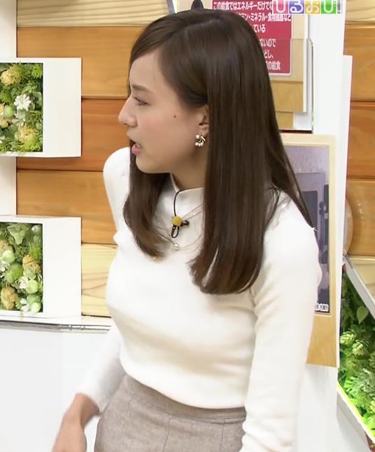 笹川友里アナ 美人巨乳アナのニットおっぱい