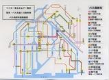 電車バス共通1日券 路線図