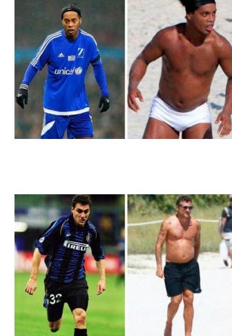 """【画像】かつて """"英雄"""" と讃えられたサッカー選手たちの一番太っていた時の写真・・・"""