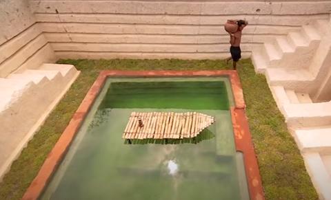 【最強動画strongest Video】60日で億万長者の地下プールの家を建てる・60 Days Build Millionaire Underground Swimming Pool House