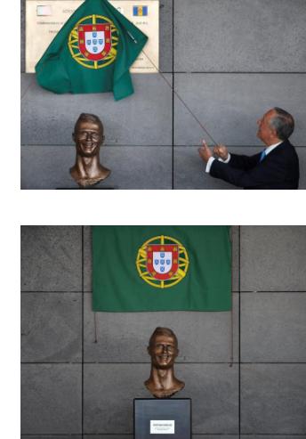 【画像】出身地に作られたクリスティアーノ・ロナウド像がやばいw