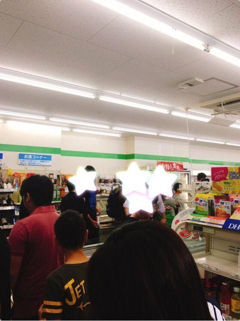 【悲報】大阪のスーパー・コンビニで飲料・食料の買い占めが始まってしまう…