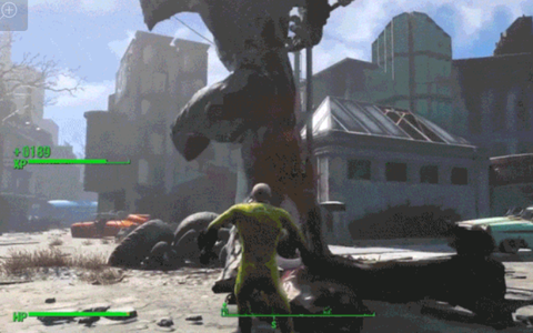 【2chゲーム】フォールアウト4で再現されたワンパンマンが躍動w