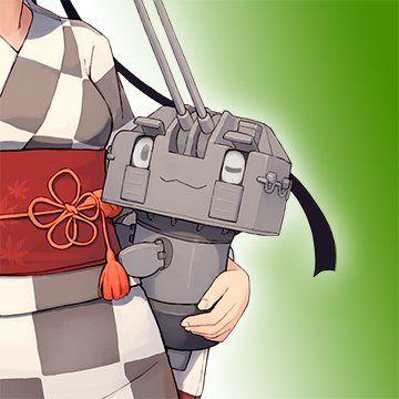 【艦これ】運営アイコンがウインクした長10cm砲ちゃんを抱えた浴衣姿の秋月に変更!