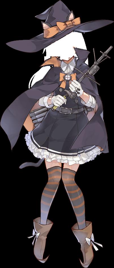 【艦これ】ハロウィンmode朝潮ちゃん、色々な艦娘のハロウィンmodeのコラ素材になってしまう・・・