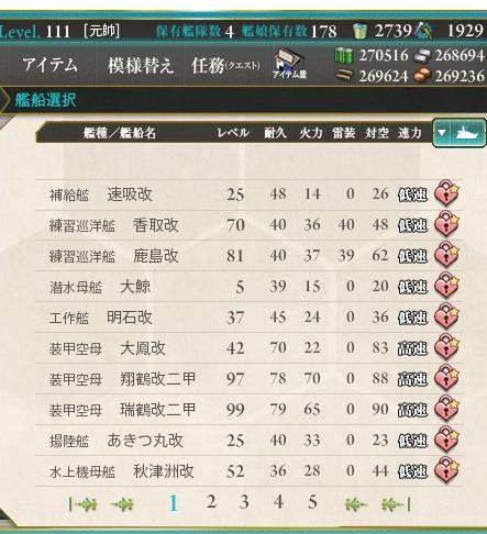 【艦これ】そろそろイベントか、秋津洲のレベリング終わってる?