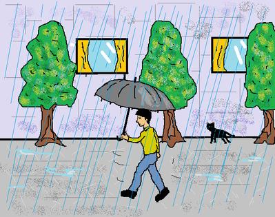 雨が降ったら傘をさす  梅雨