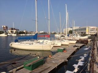 徳島 吉野川河口のヨットハーバー1